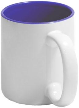 Чашка синяя внутри