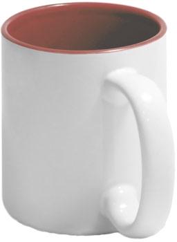 Чашка бардовая внутри