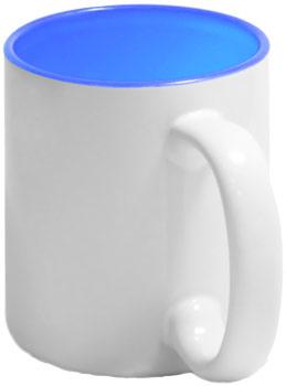 Чашка голубая внутри