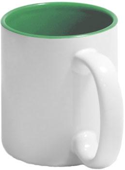 Чашка зеленая внутри