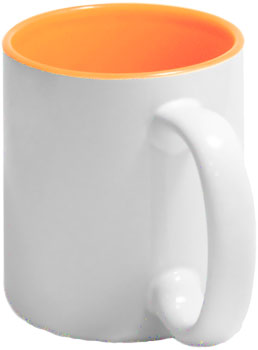 Чашка оранжевая внутри