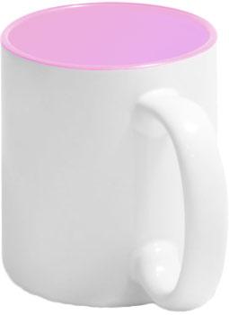Чашка розовая внутри
